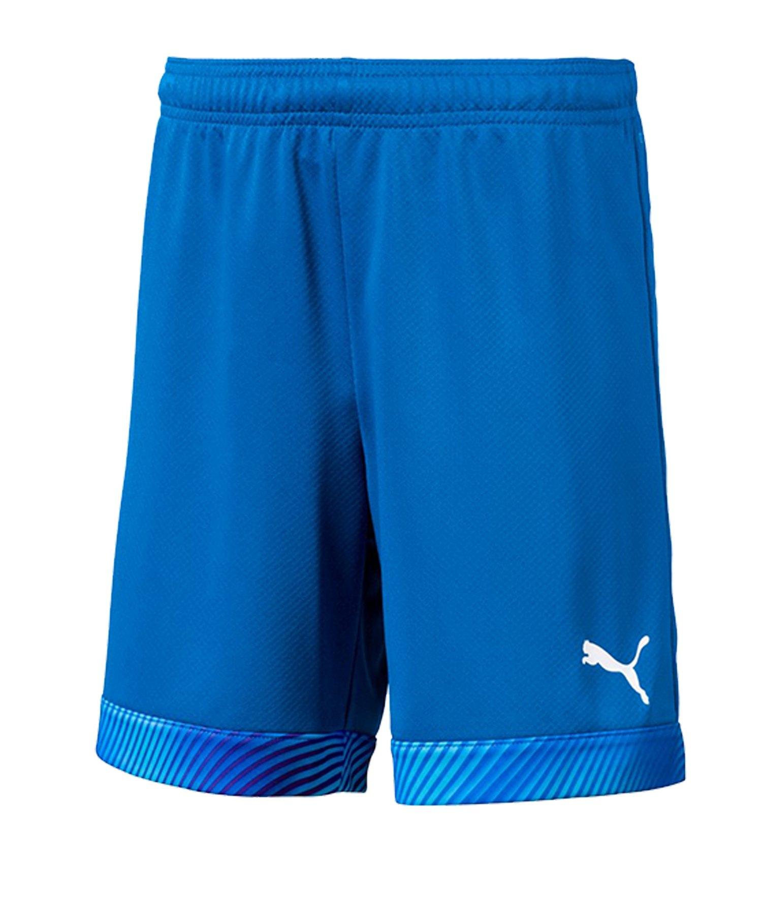 PUMA CUP Short Kids Blau Weiss F02 - blau