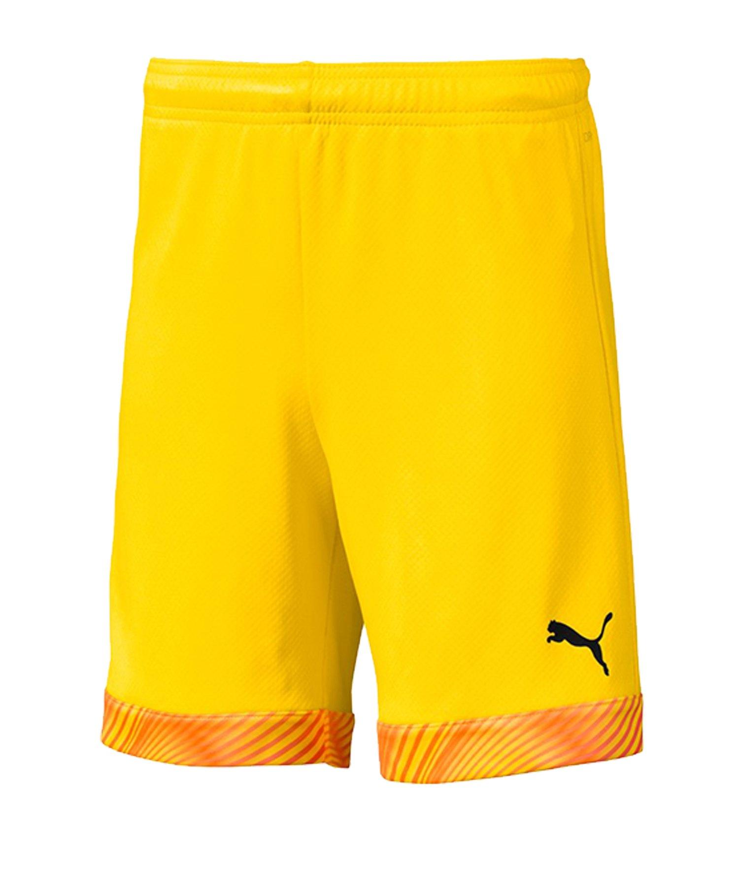 PUMA CUP Short Kids Gelb Orange Schwarz F45 - gelb