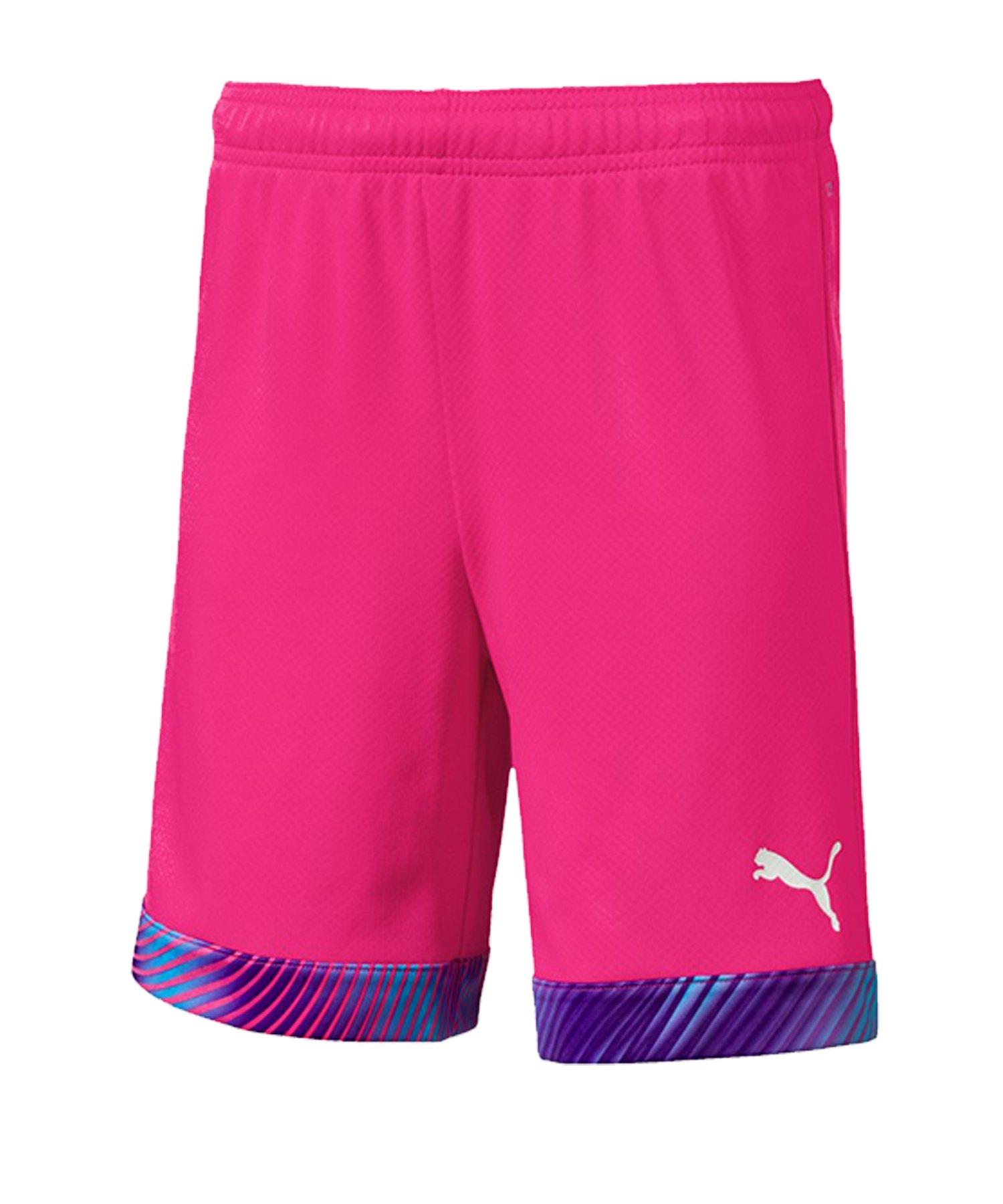 PUMA CUP Short Kids Pink Lila Weiss F41 - pink