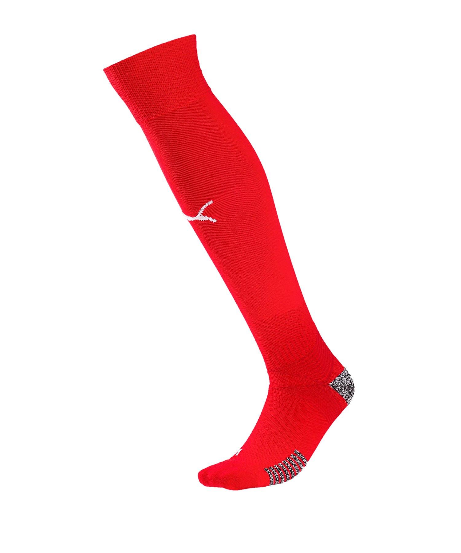 PUMA teamFINAL 21 Socks Stutzenstrümpfe Rot F01 - rot