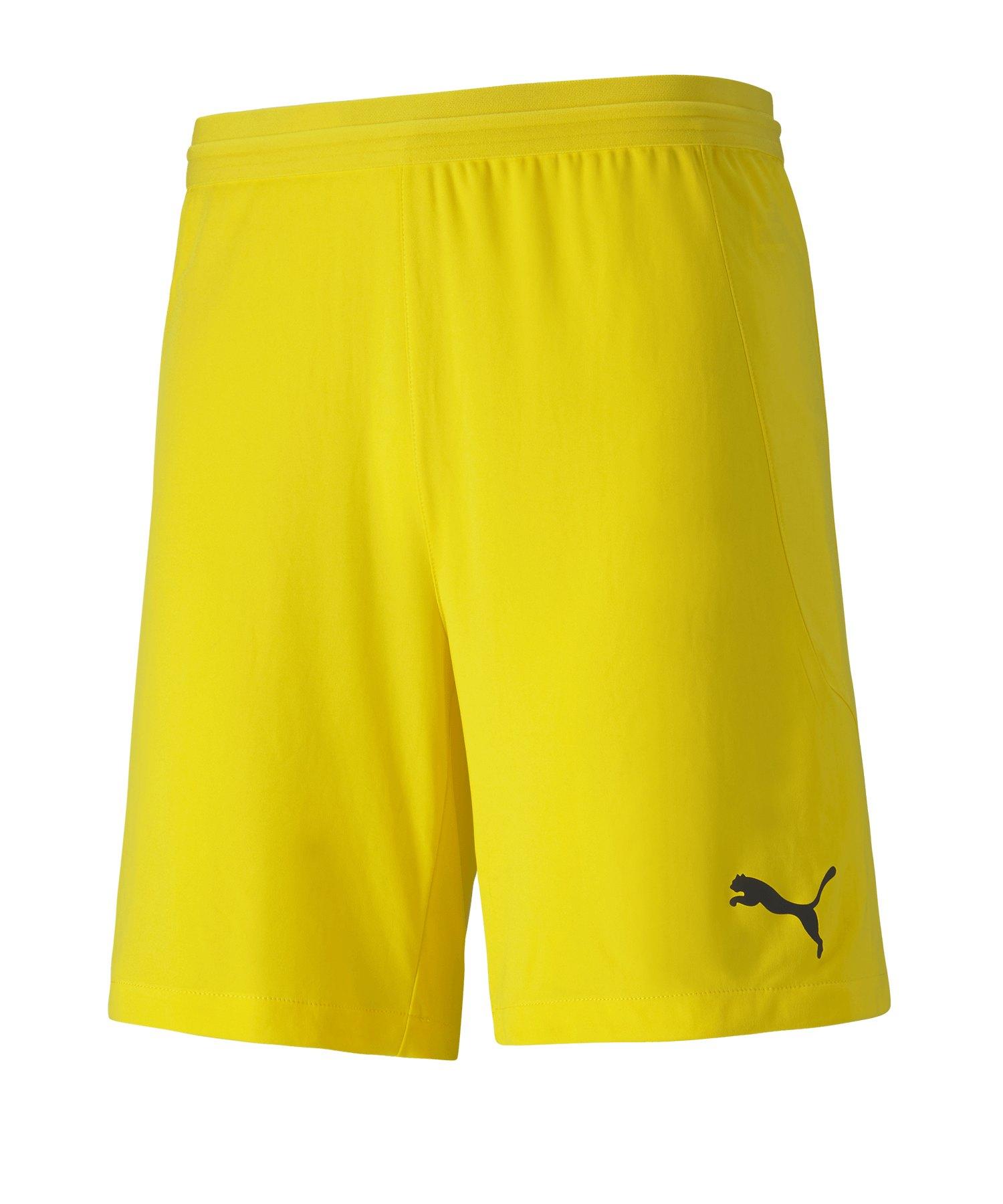 PUMA teamFINAL 21 Knit Short Gelb F07 - gelb