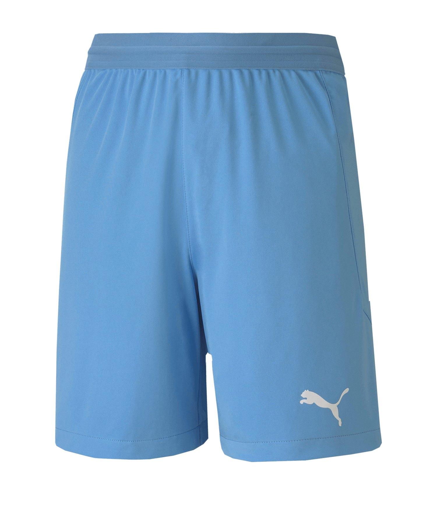 PUMA teamFINAL 21 Knit Short Kids Blau F18 - blau