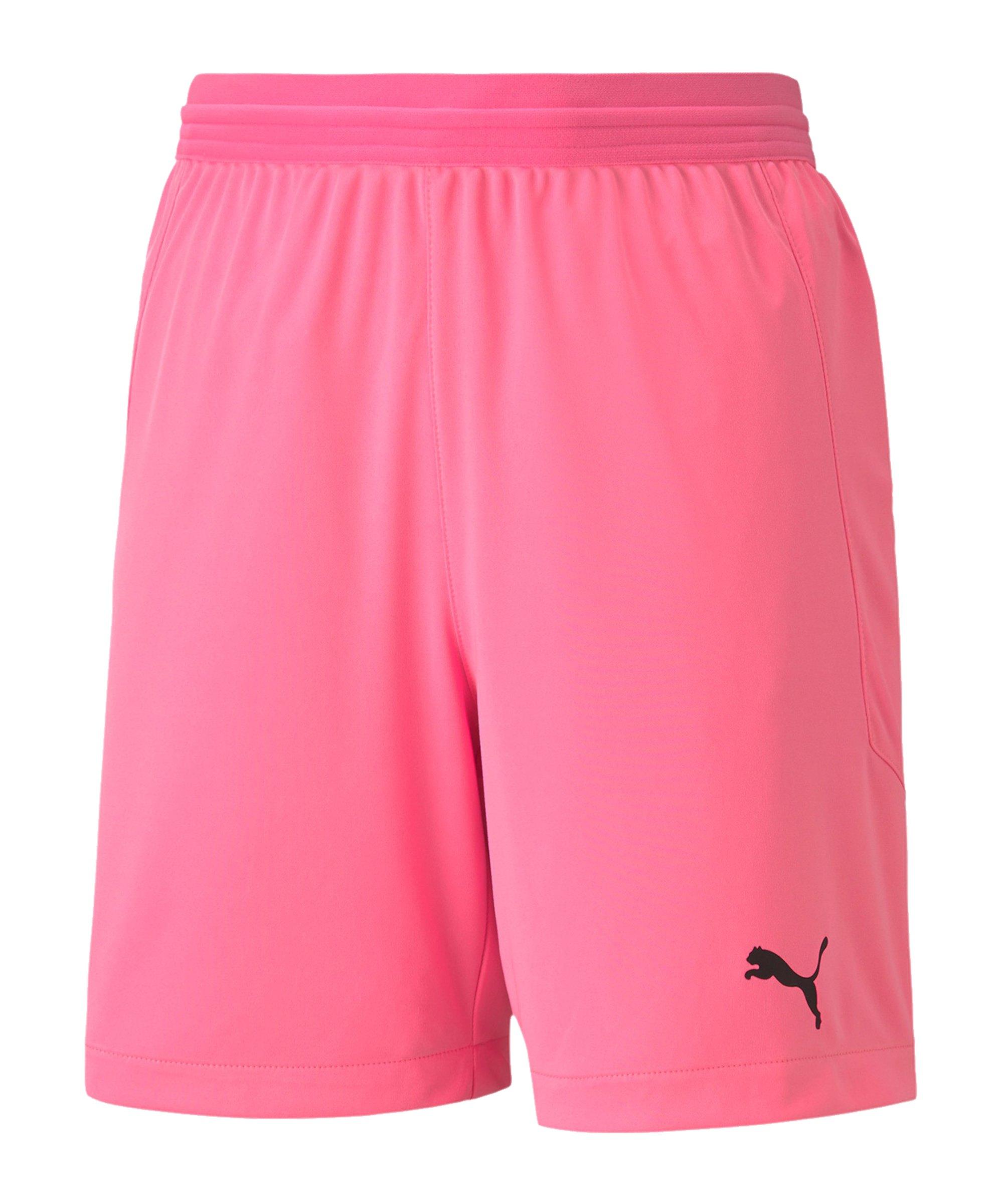 PUMA teamFINAL 21 Knit Short Kids Pink F22 - pink