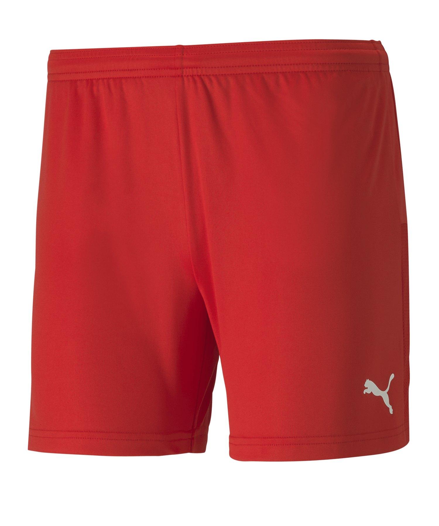 PUMA teamGOAL 23 Knit Shorts Damen Rot F01 - rot