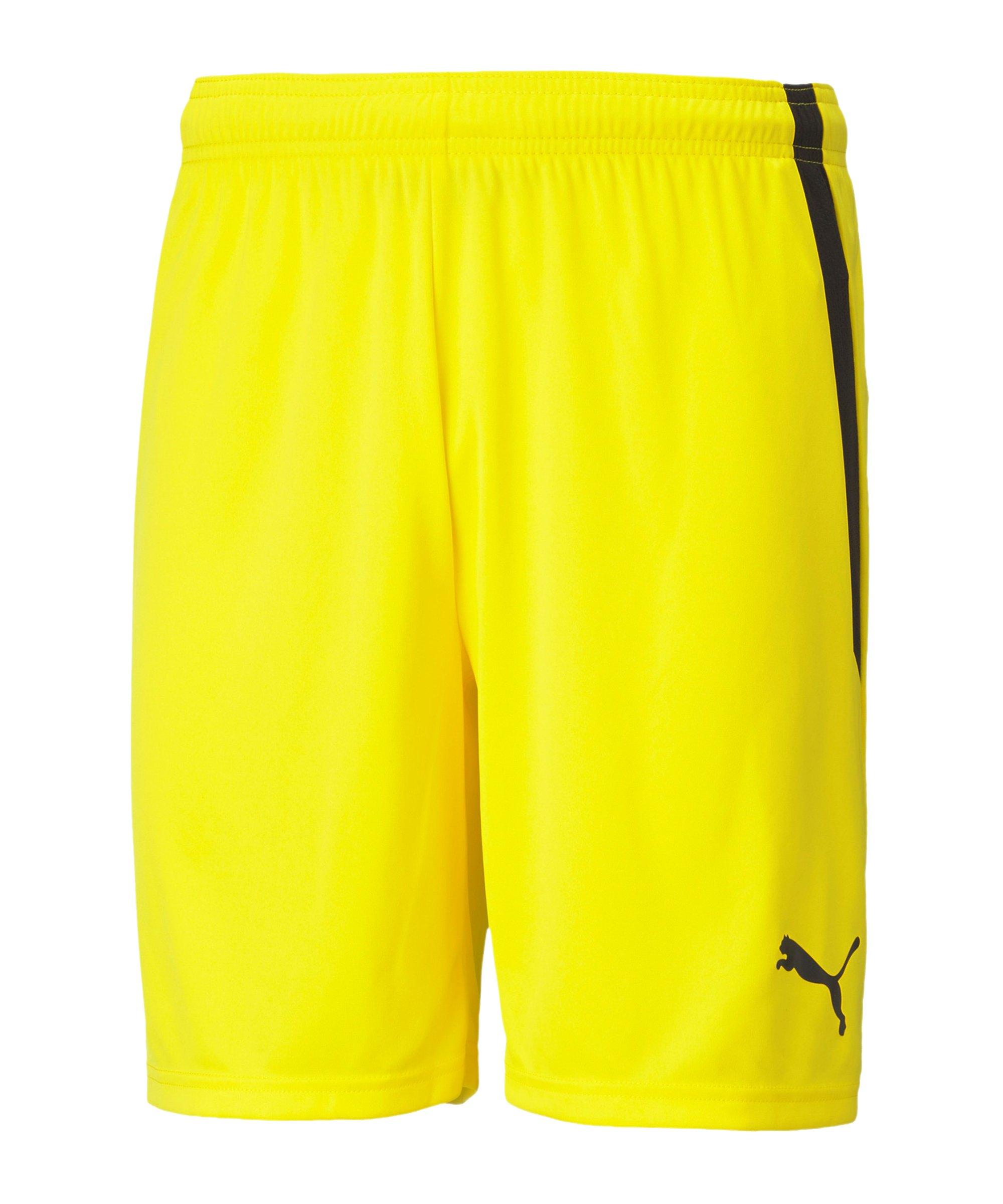 PUMA teamLIGA Short Gelb Schwarz F07 - gelb
