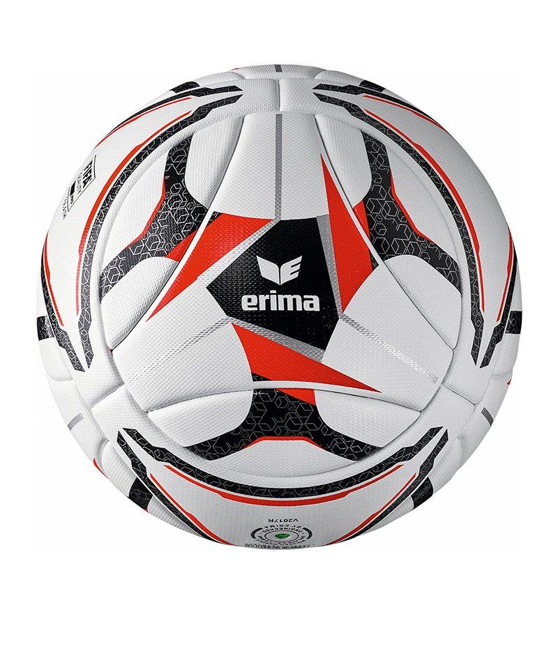 Erima Senzor Match Spielball Weiss Schwarz Rot - weiss