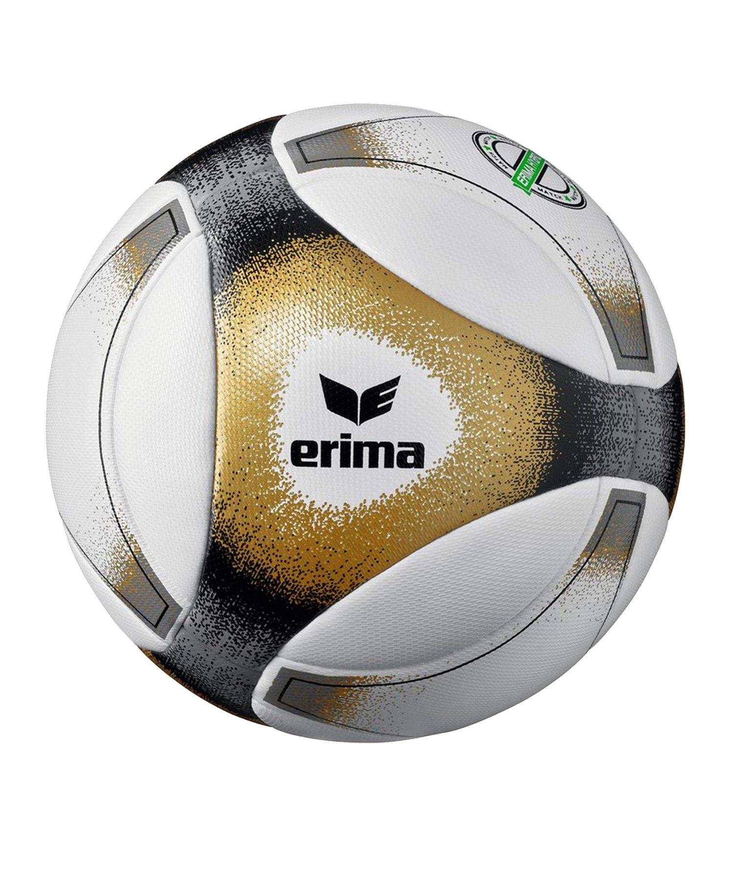 Erima Hybrid Match Spielball Schwarz Gold - schwarz