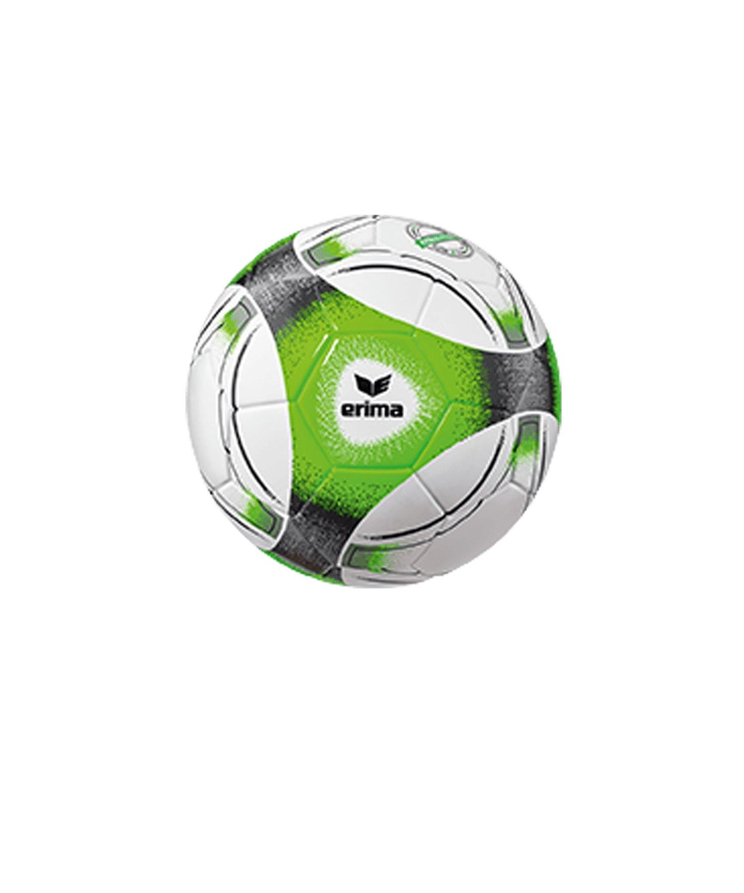 Erima Hybrid Miniball Schwarz Grün - gruen