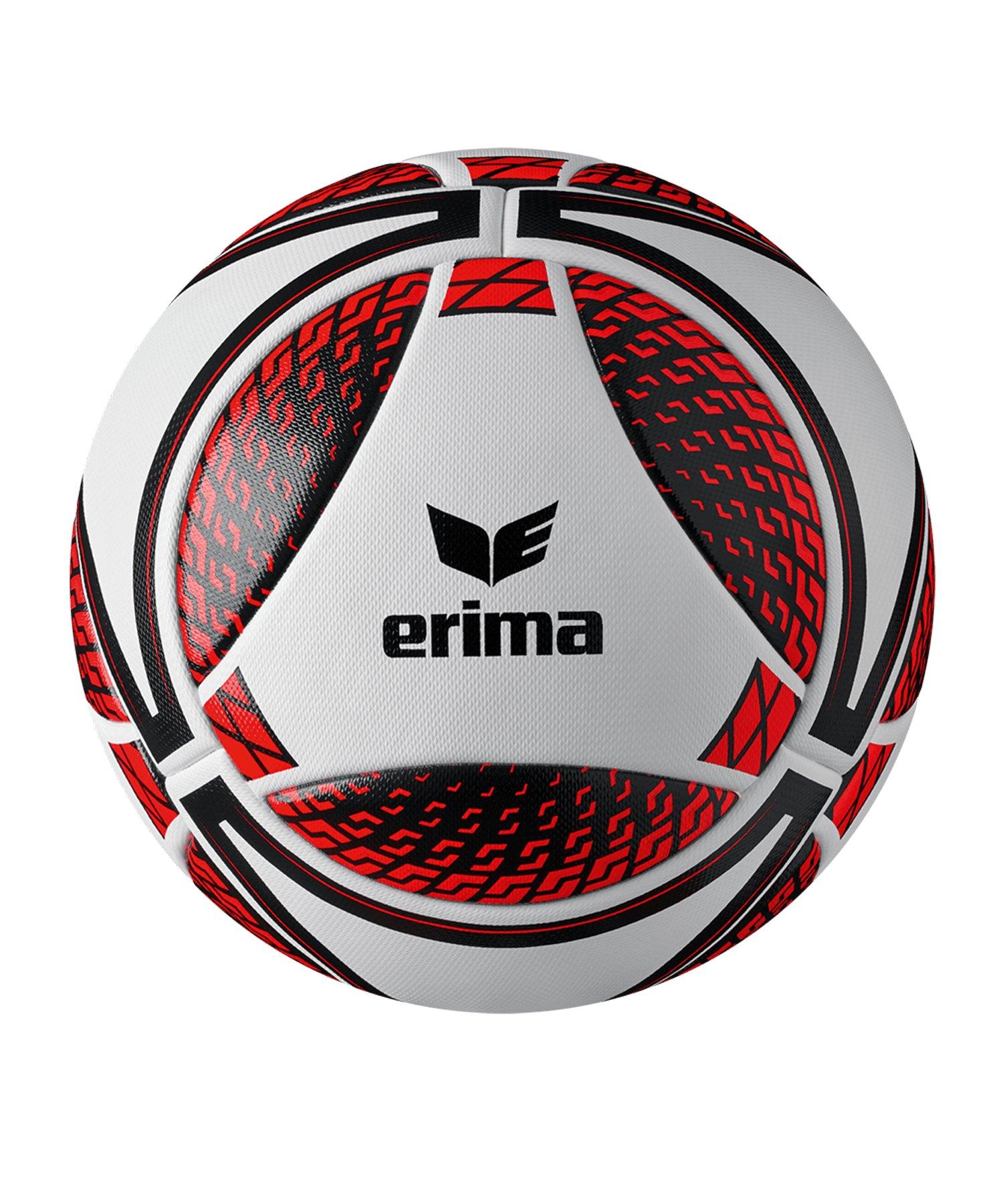 Erima Senzor Match Spielball Weiss Rot - weiss