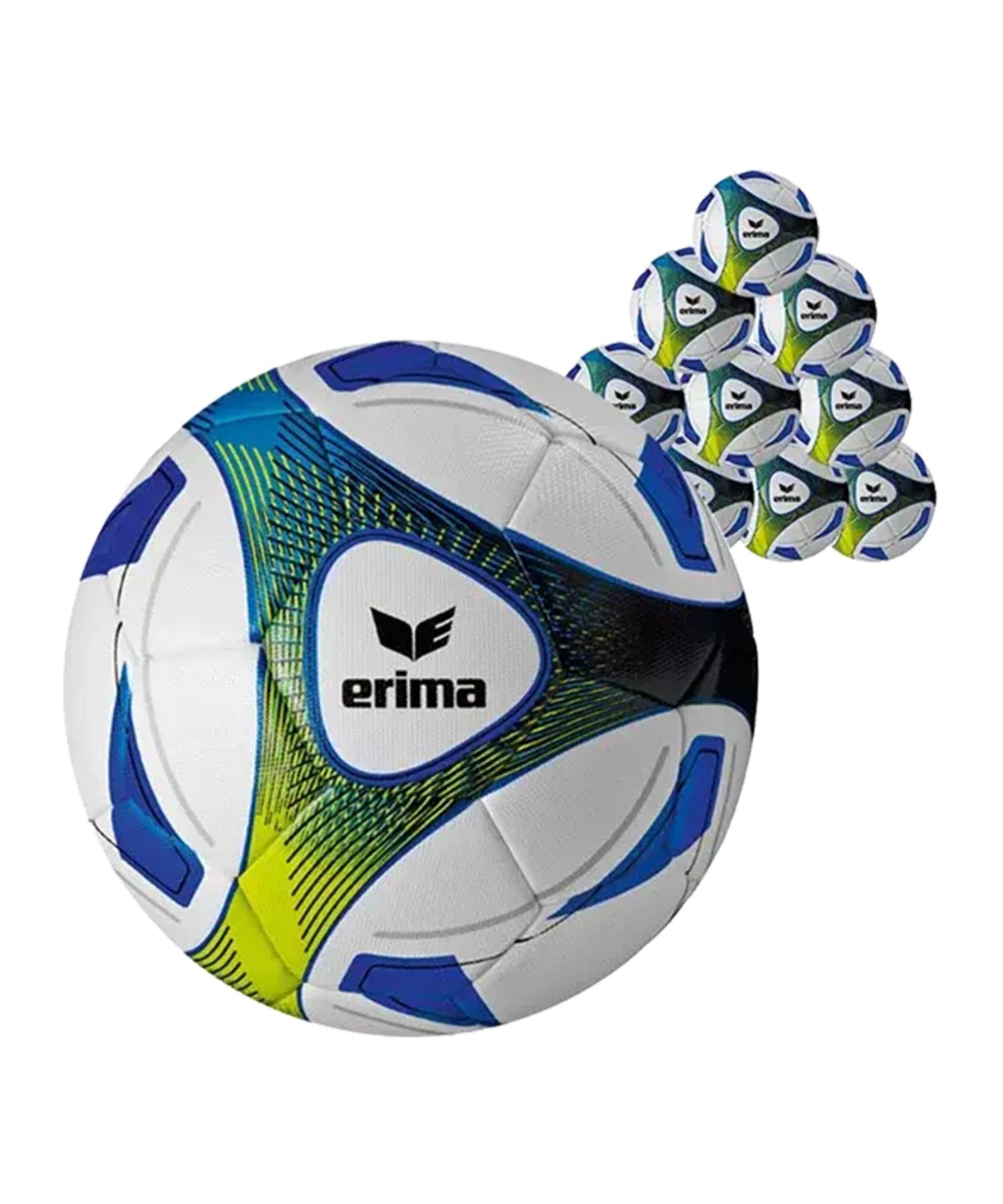 Erima 20xTrainingsball Hybrid Blau Gelb - blau