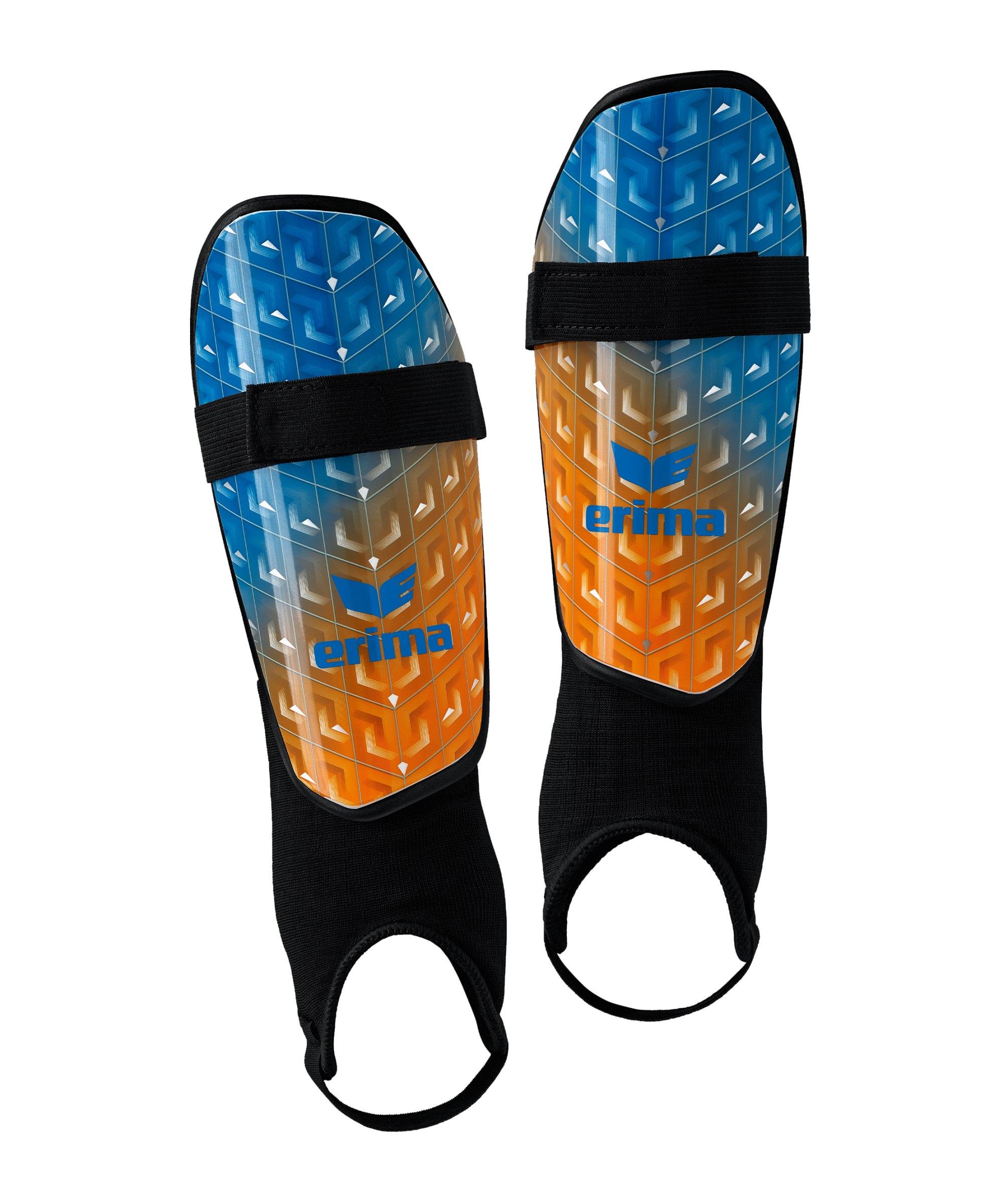 Erima Pango Classic Schienbeinschoner Blau Orange - blau