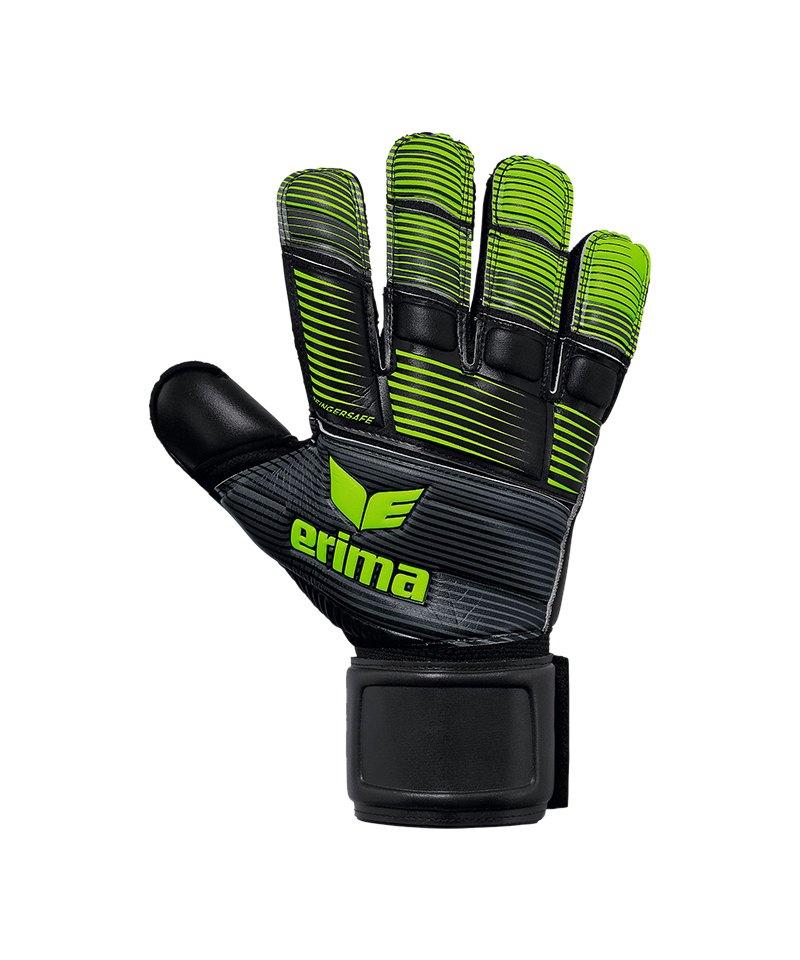 Erima Skinator Hardground TW-Handschuh Schwarz - schwarz