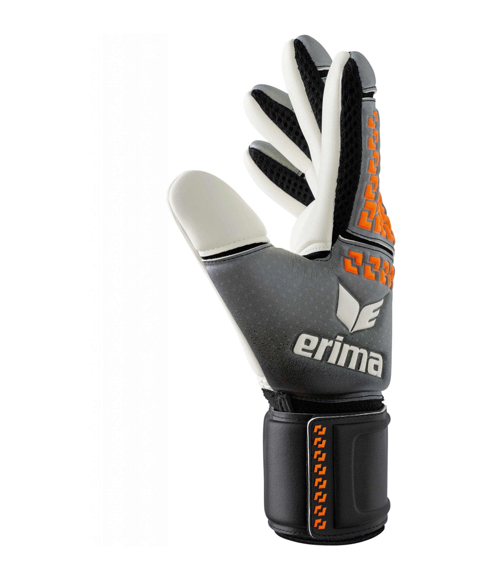 Erima Skinator Torwarthandschuh Schwarz Orange - schwarz