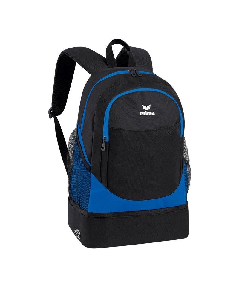 Erima Backpack Rucksack Club 2.0 Blau Schwarz - blau