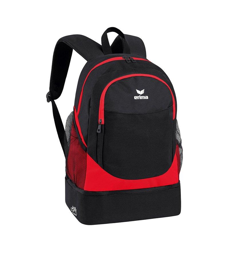 Erima Backpack Rucksack Club 2.0 Rot Schwarz - rot