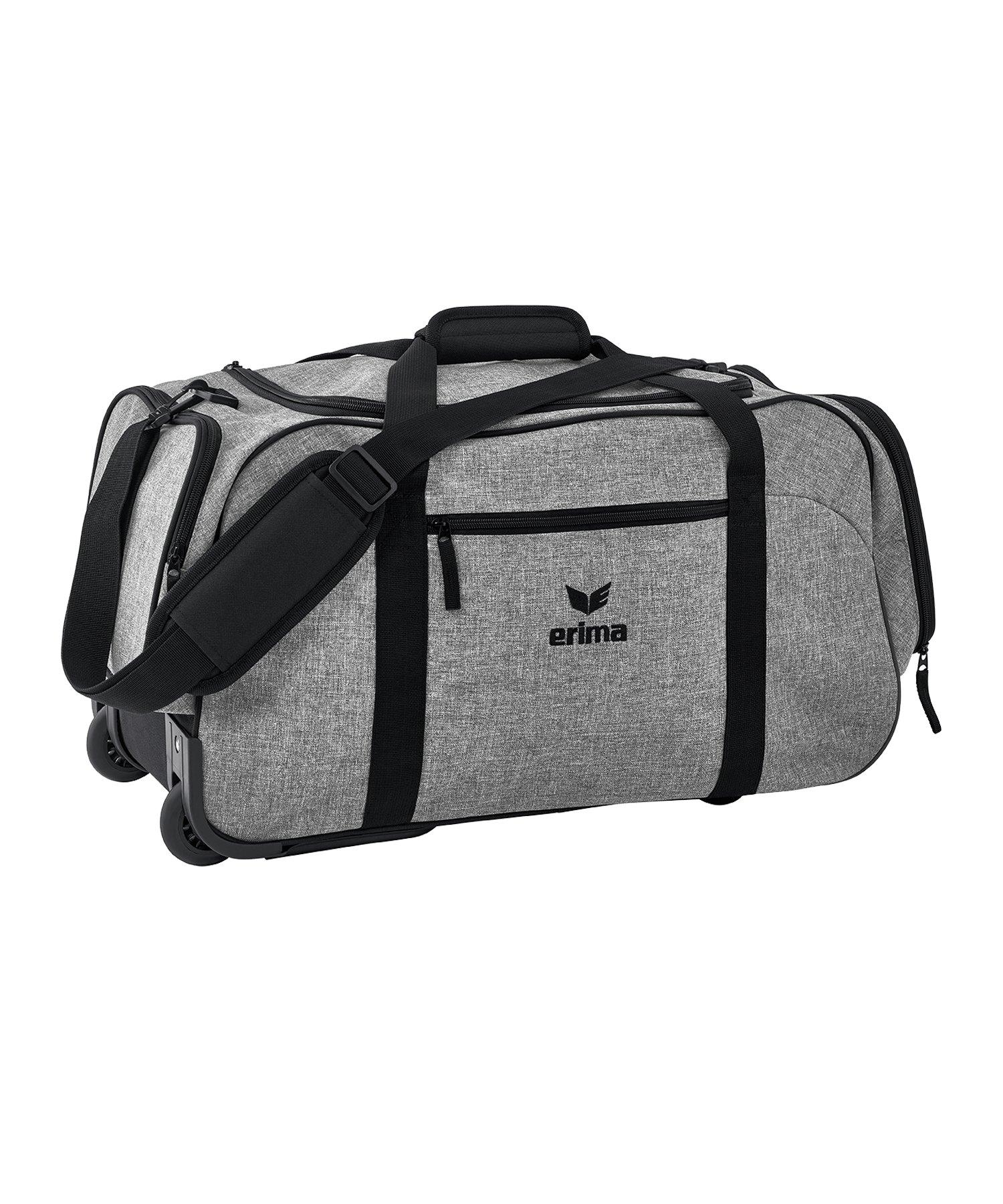 Erima Sportsbag Sporttasche Größe M Grau Schwarz - grau