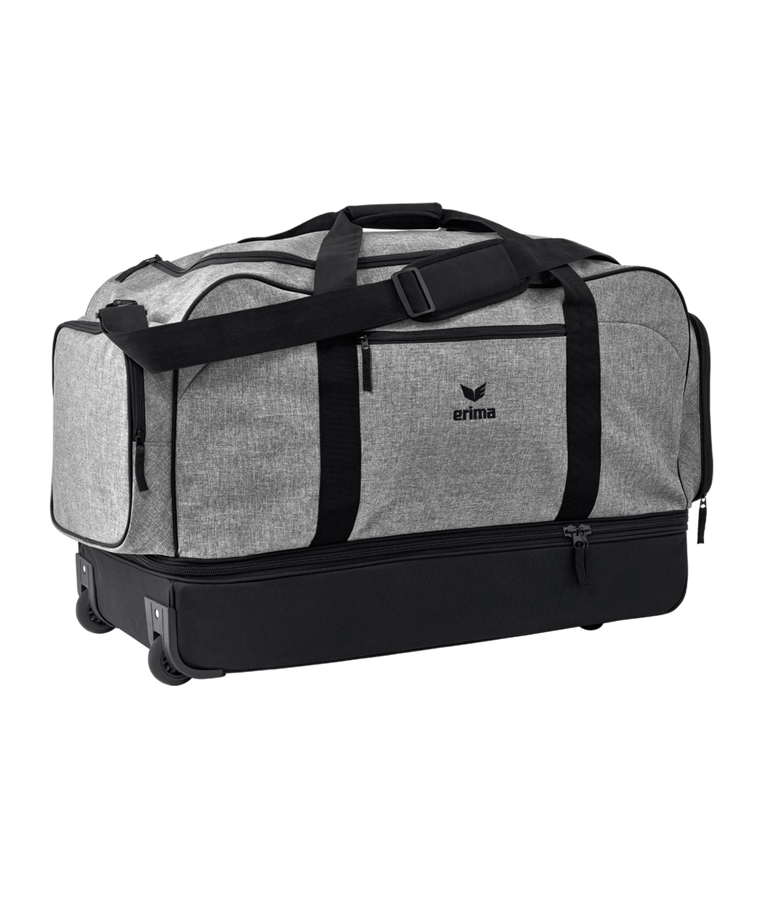 Erima Sportsbag Sporttasche Größe XL Grau Schwarz - grau