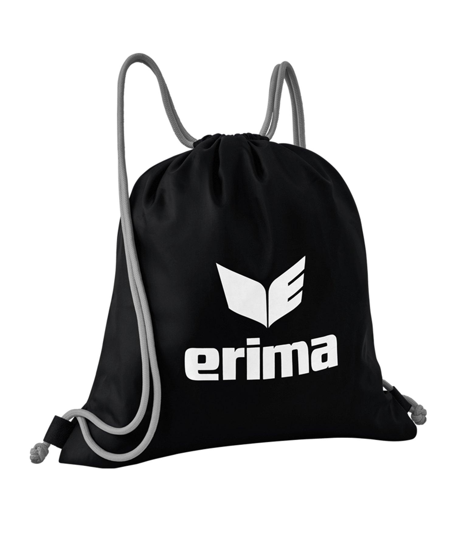 Erima Turnbeutel Pro Schwarz Grau - schwarz