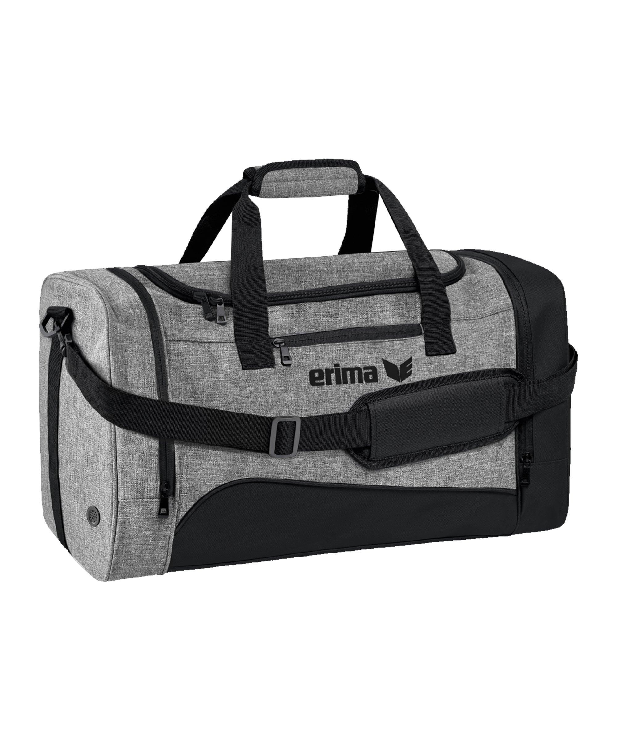 Erima Club 1900 Tasche Gr. S Schwarz Grau - schwarz