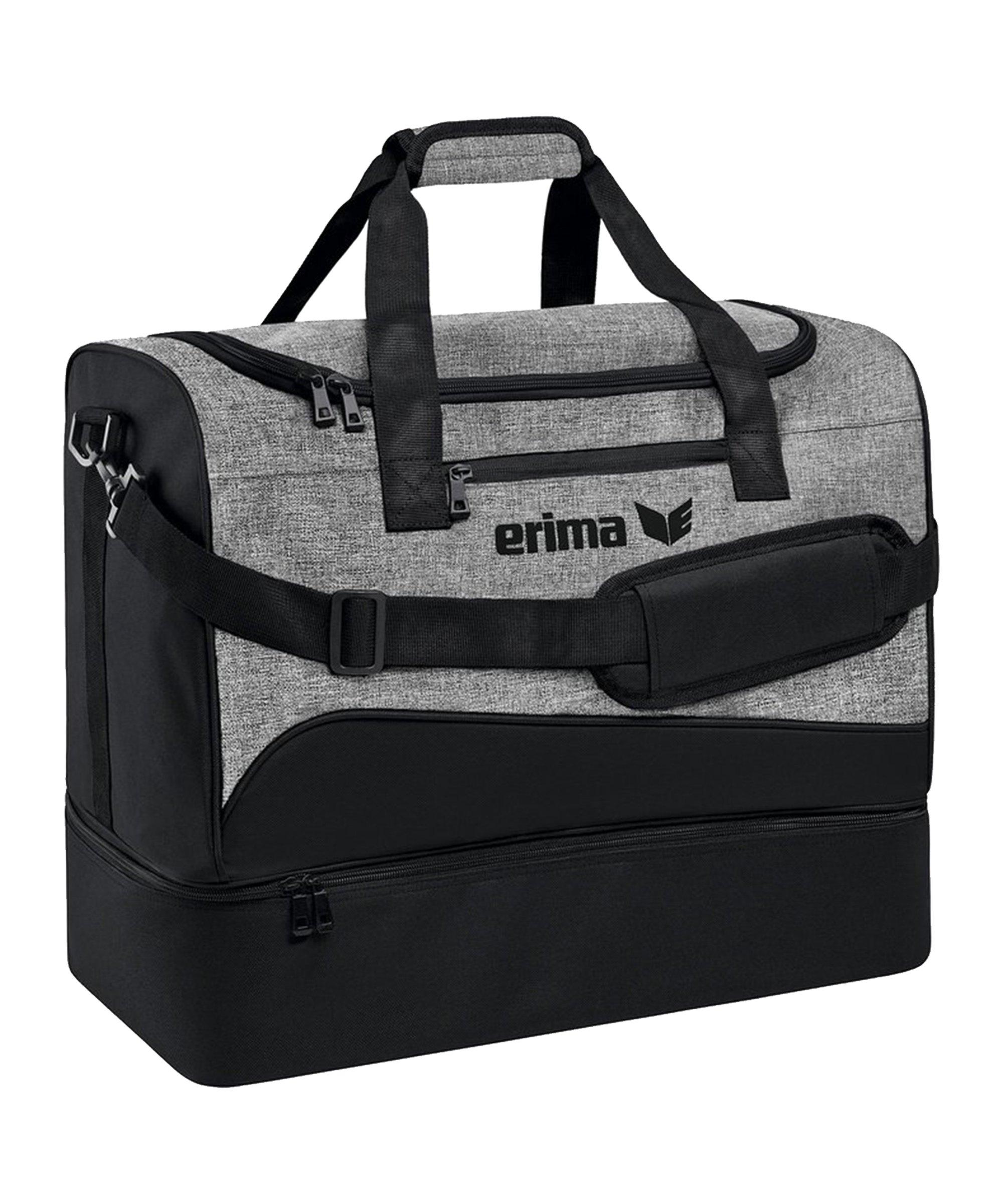Erima Club 1900 Tasche mit Bodenfach Gr. M Schwarz - schwarz