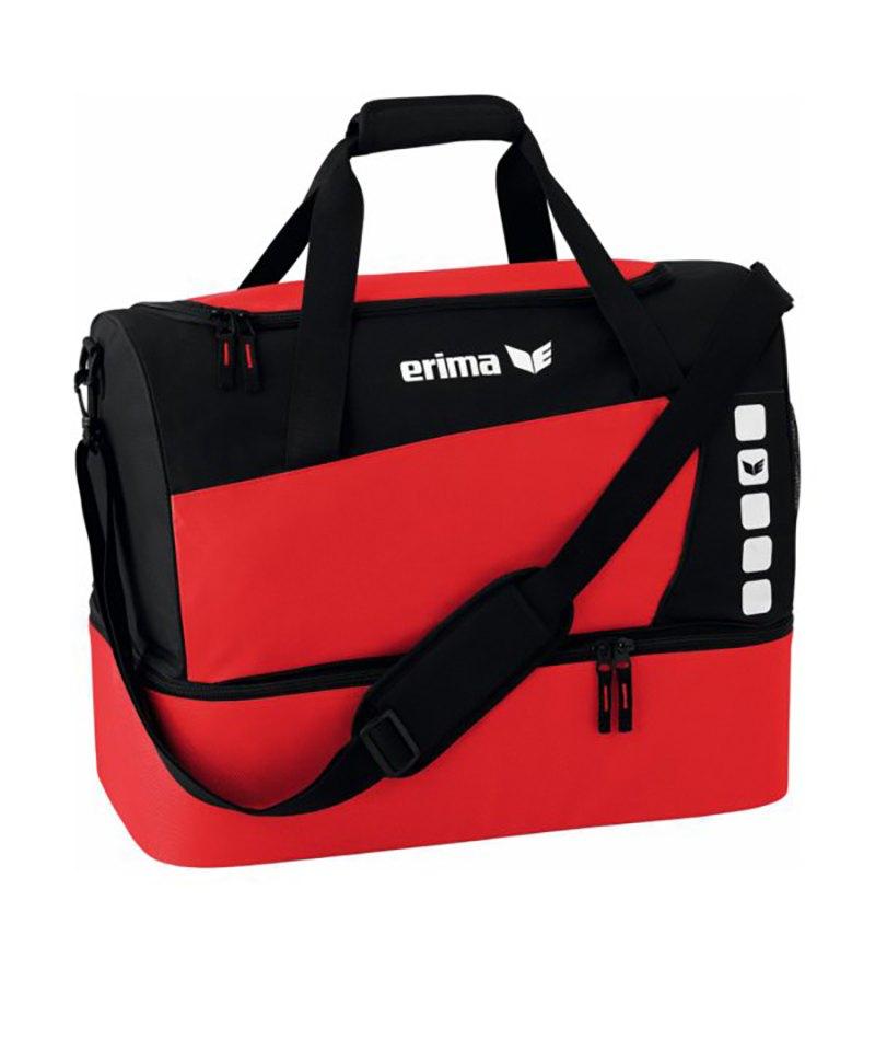 Erima Sporttasche mit Bodenfach Club 5 Rot Gr. M - rot