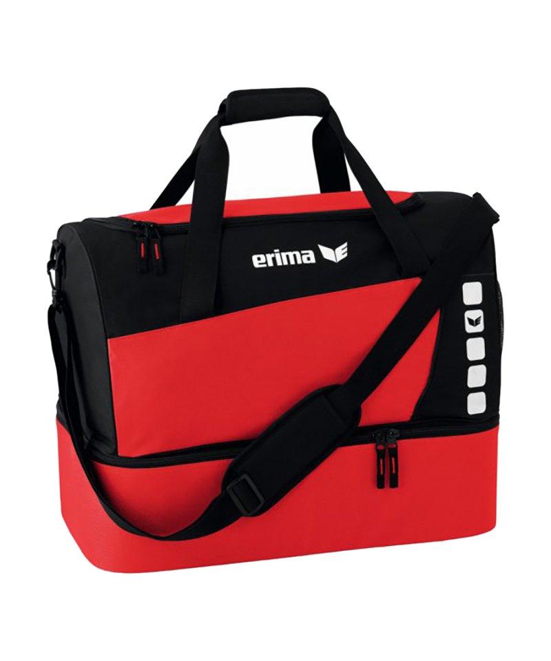 Erima Sporttasche mit Bodenfach Club 5 Rot Gr. S - rot