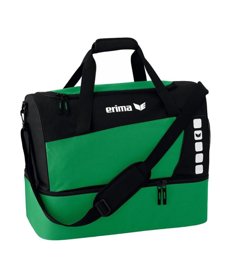 Erima Sporttasche mit Bodenfach Club 5 Grün Gr. M - gruen