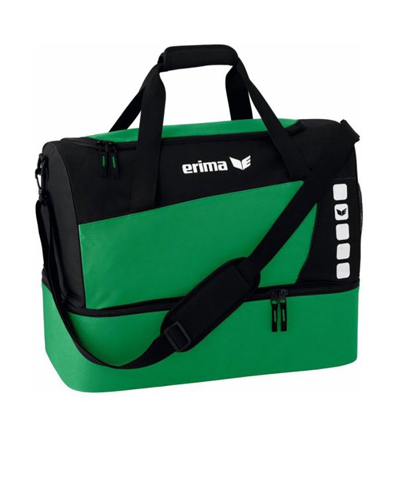 Erima Sporttasche mit Bodenfach Club 5 Grün Gr. S - gruen