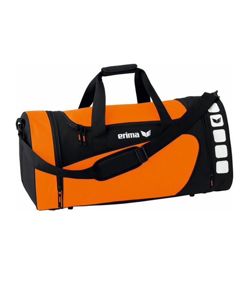 Erima Sporttasche Club 5 Orange Schwarz Gr. M - orange