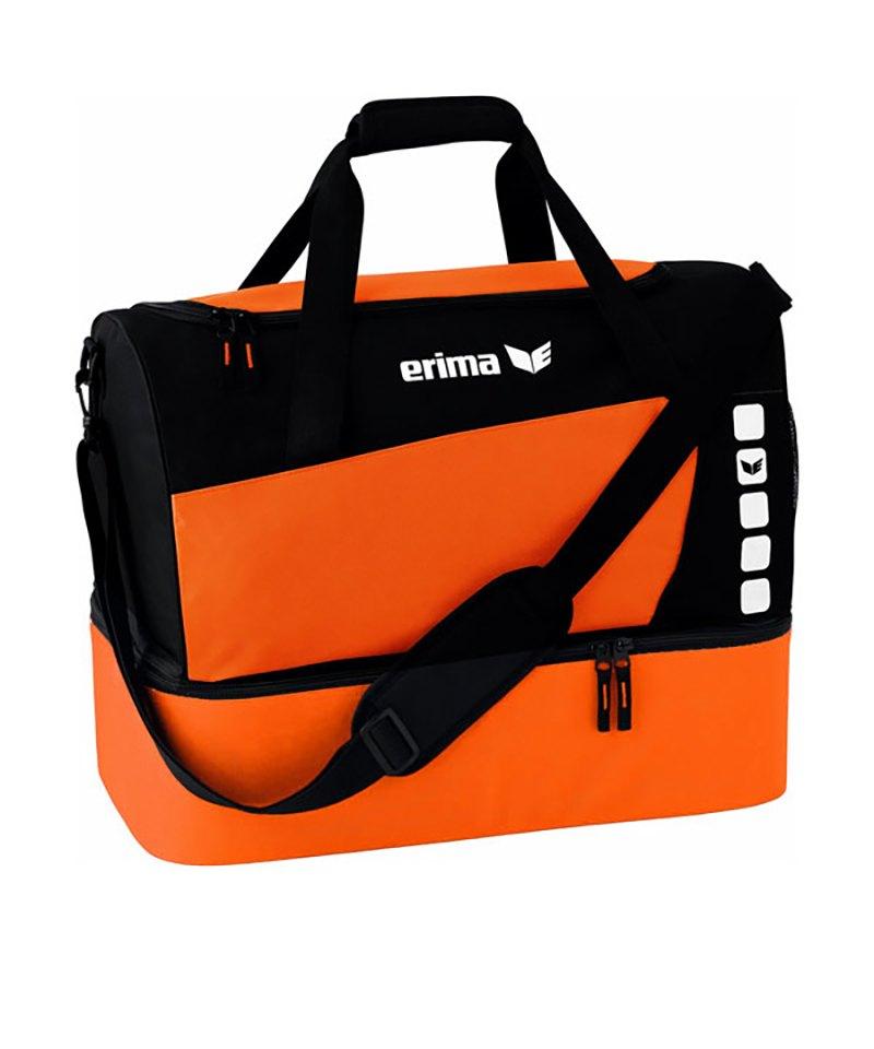 Erima Tasche mit Bodenfach Club 5 Orange Gr. M - orange