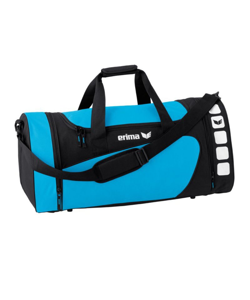 Erima Sporttasche Club 5 Hellblau Schwarz Gr. S - blau
