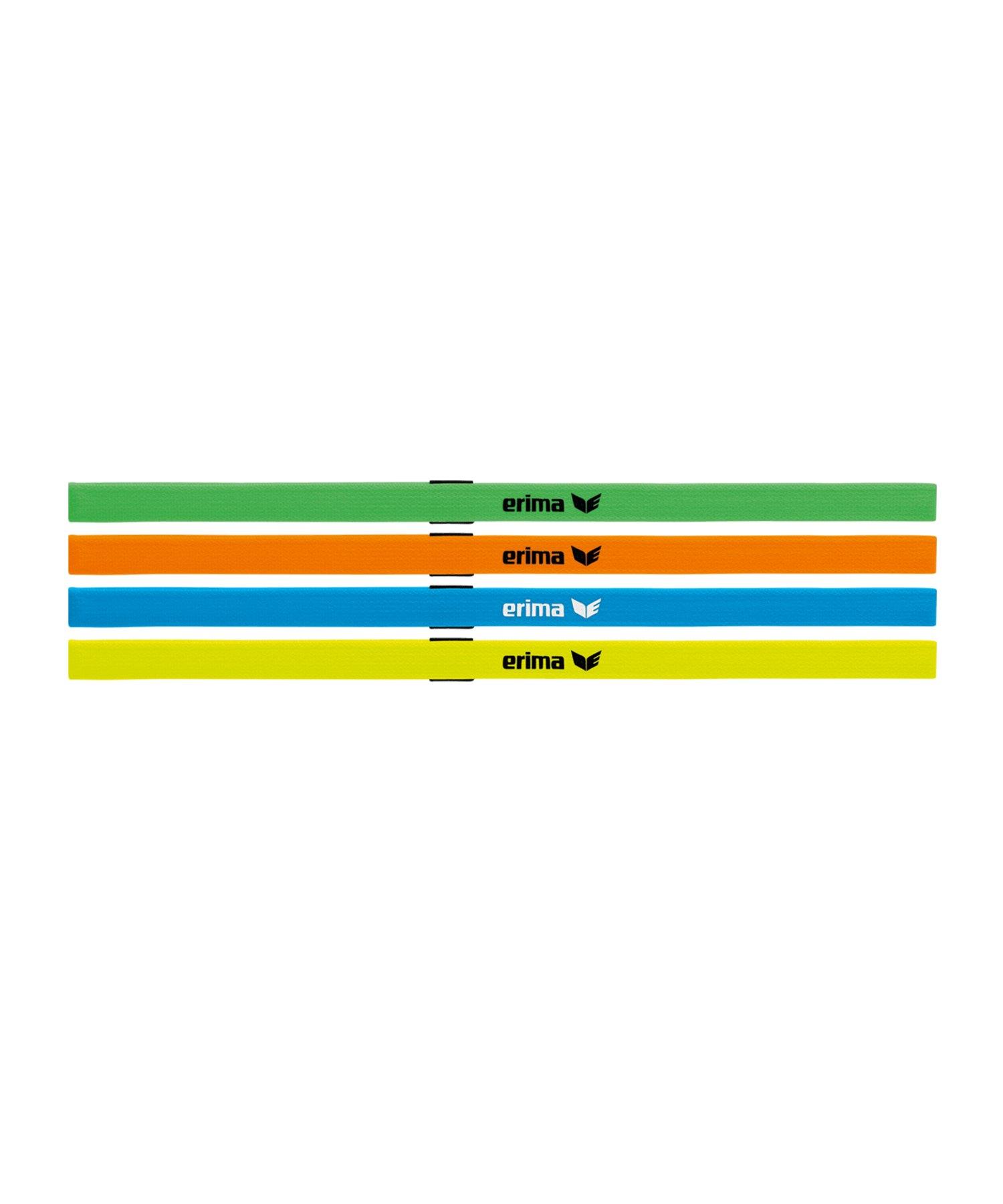 Erima Haarband Black Series 4er Set Bunt - gruen