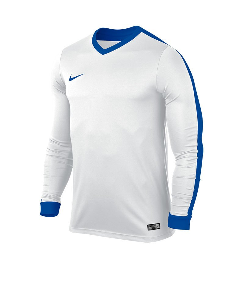 Nike Langarm Trikot Striker IV F100 Weiss Blau - weiss