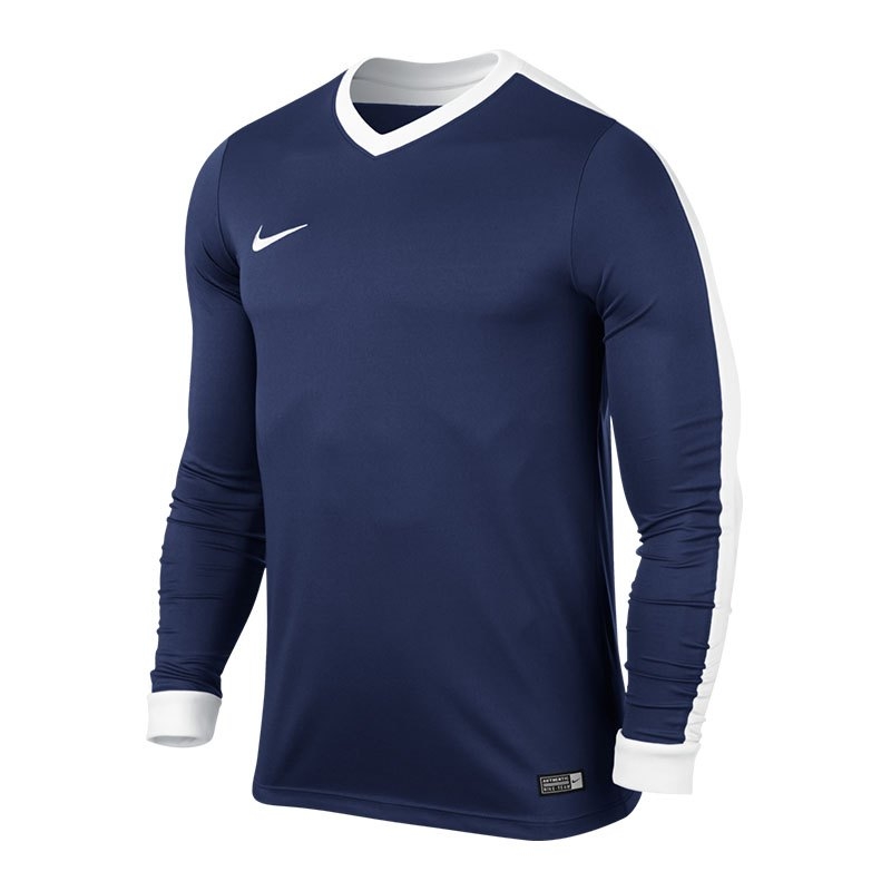 Nike Langarm Trikot Striker IV F410 Blau Weiss - blau
