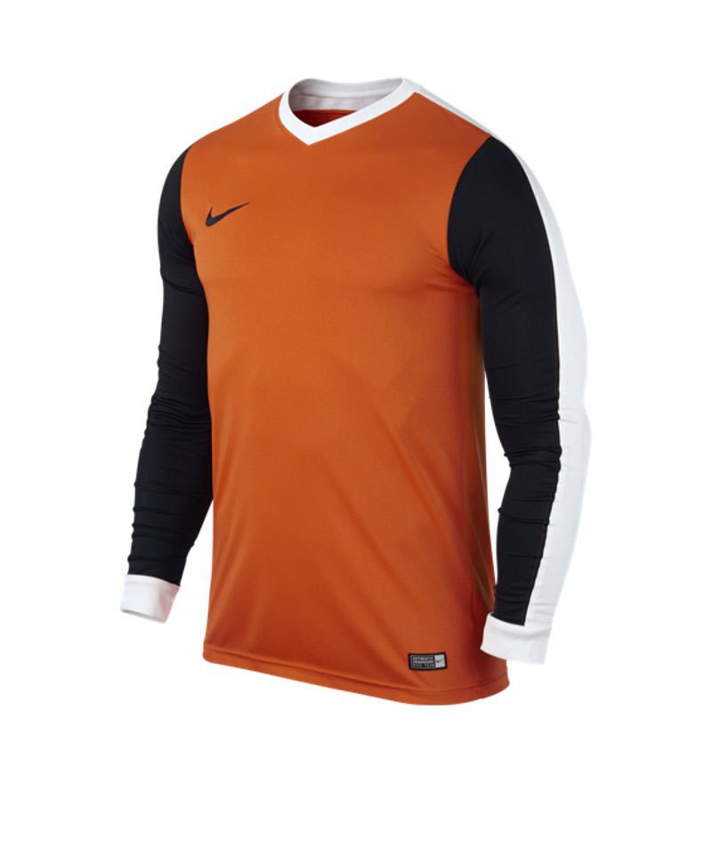 Nike Langarm Trikot Striker IV F815 Orange Schwarz - orange