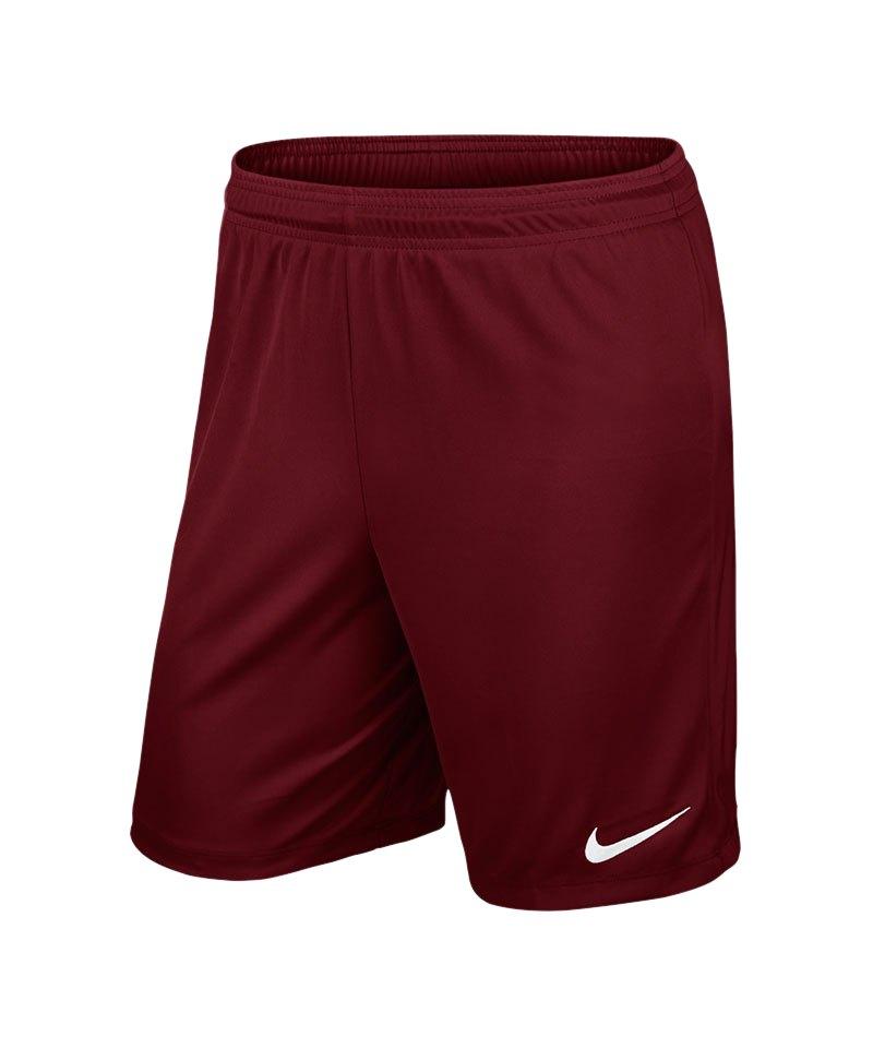 Nike Short ohne Innenslip Park II F677 Dunkelrot - rot