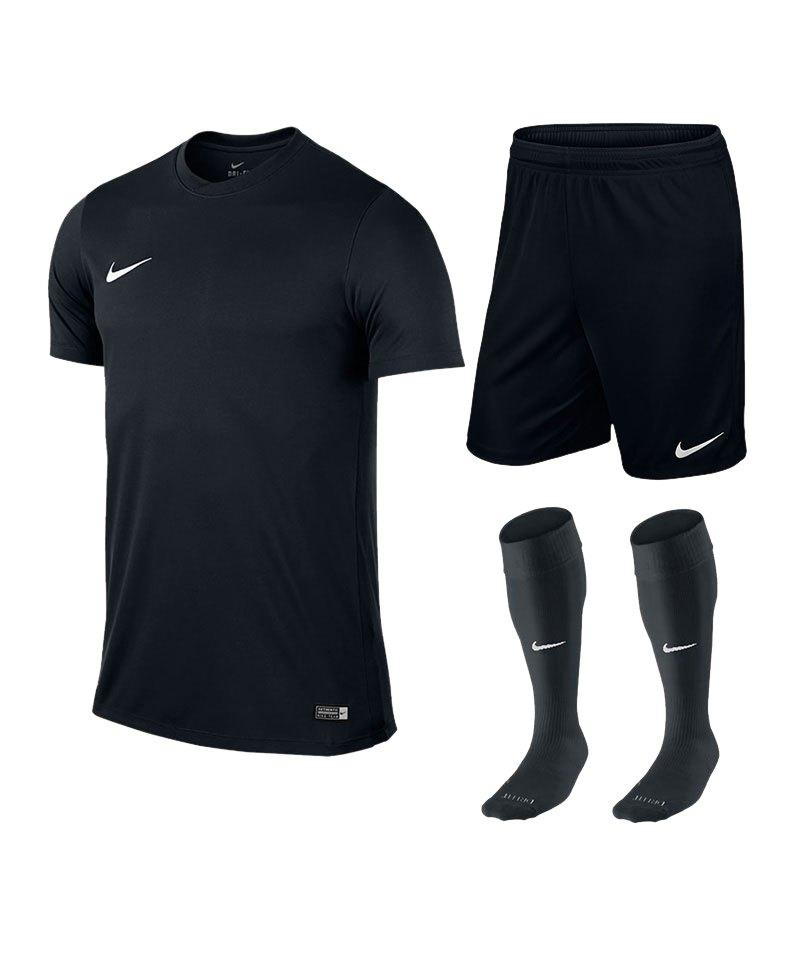 Nike Park VI Trikotset kurzarm F010 Schwarz - schwarz