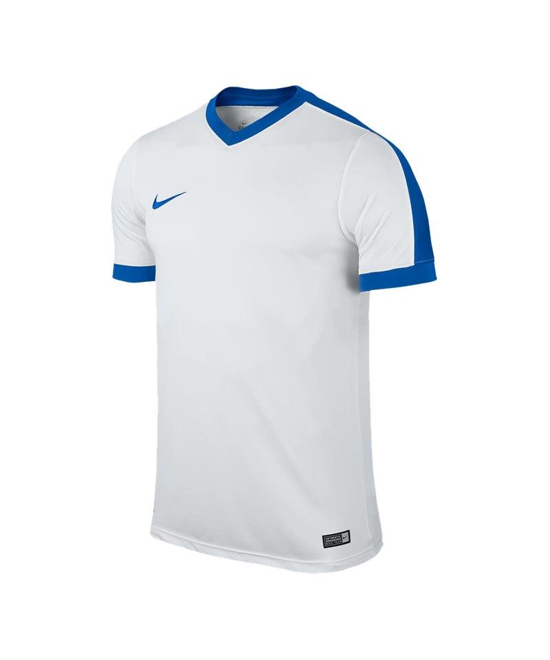 Nike Kurzarm Trikot Striker IV F100 Weiss Blau - weiss