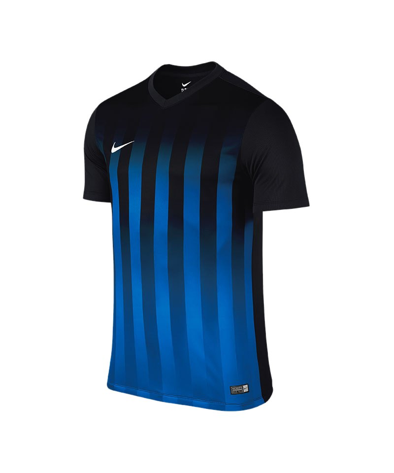 Nike Kurzarm Trikot Striped Division II F011 - schwarz