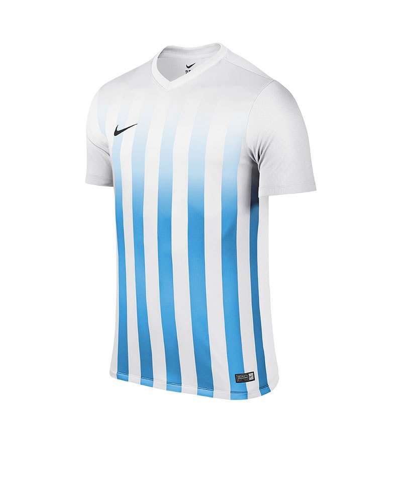 Nike Kurzarm Trikot Striped Division II F100 Weiss - weiss