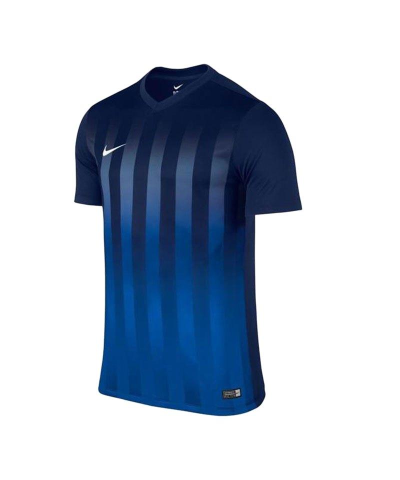 Nike Kurzarm Trikot Striped Division II F410 Blau - blau