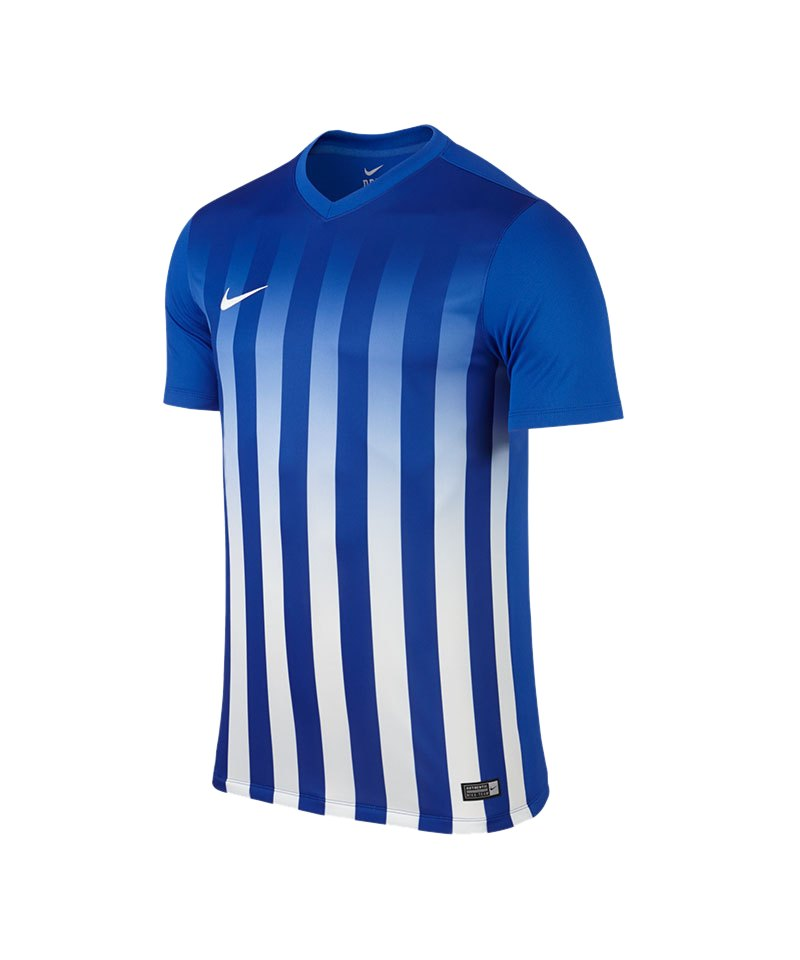 Nike Kurzarm Trikot Striped Division II F463 Blau - blau