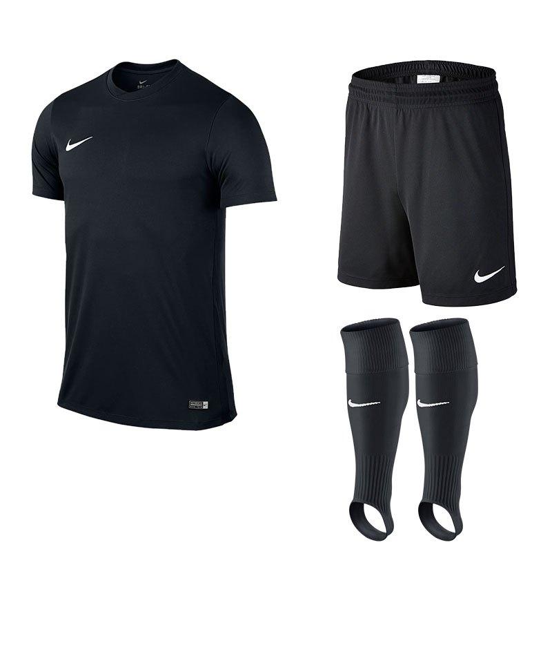 Nike Park VI Trikotset Kinder F010 Schwarz - schwarz