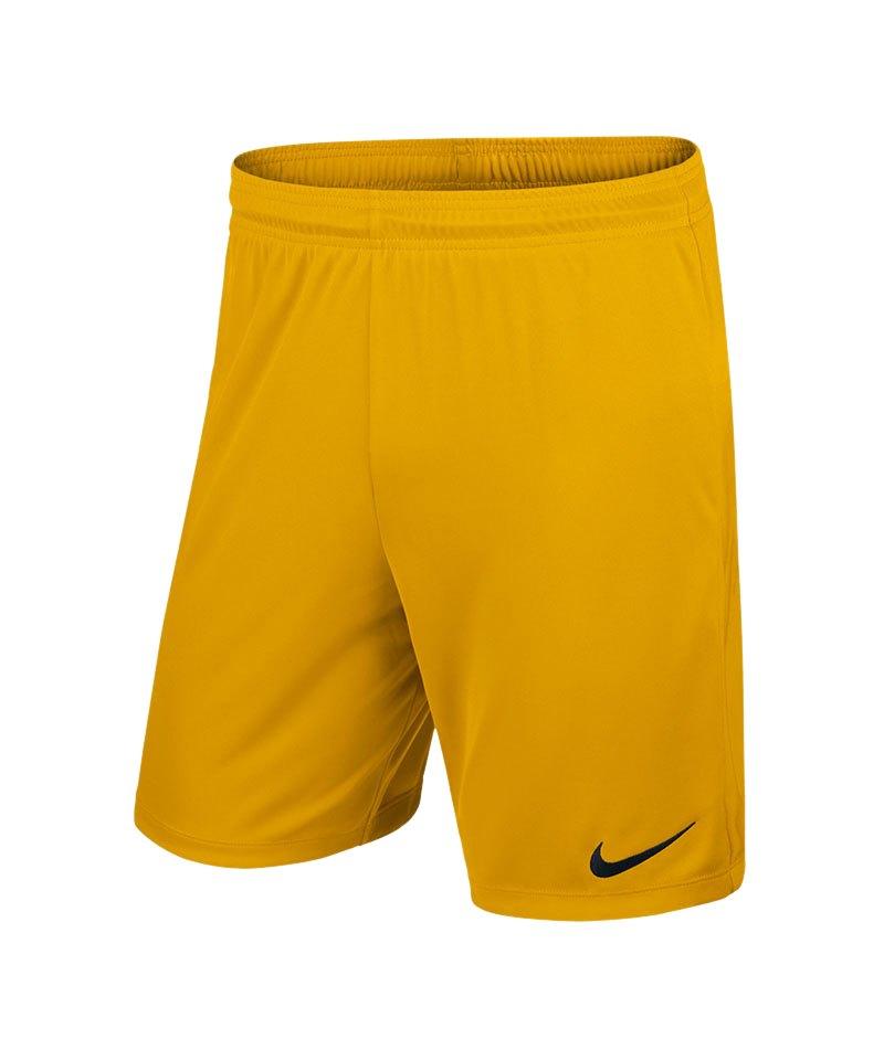 Nike Short ohne Innenslip Park II Kinder F739 - gelb