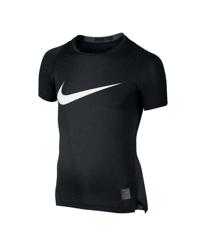 Nike Pro Kurzarm Cool Hybrid Comp Kinder F010 - schwarz