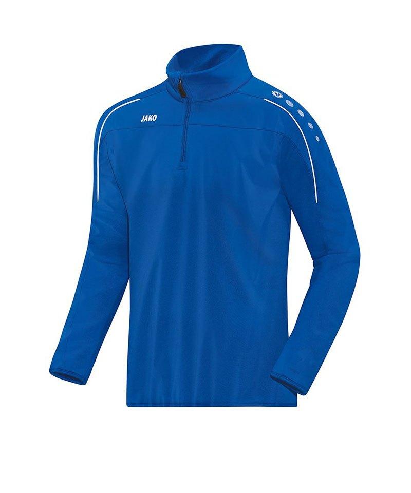 Jako Classico Rainzip Regensweatshirt Blau F04 - blau
