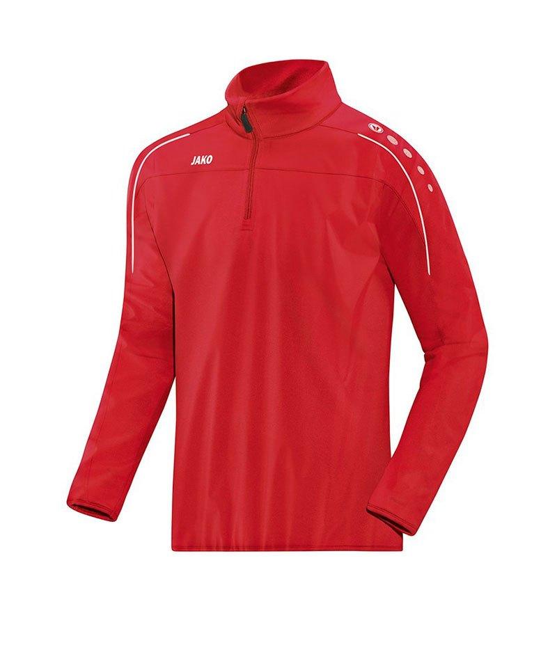 Jako Classico Rainzip Regensweatshirt Rot F01 - rot