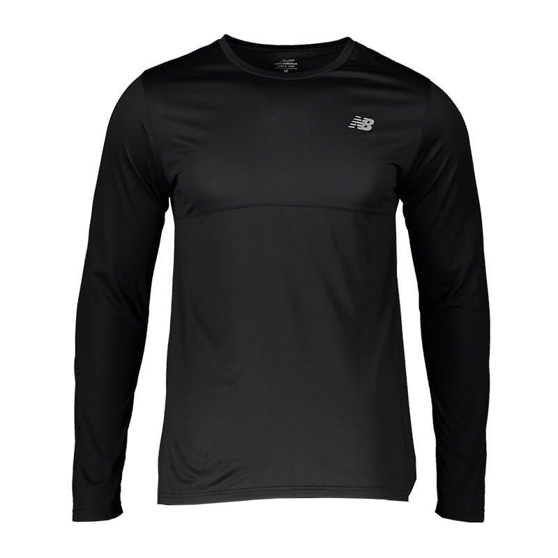 New Balance Sweatshirt langarm Schwarz F8 - schwarz
