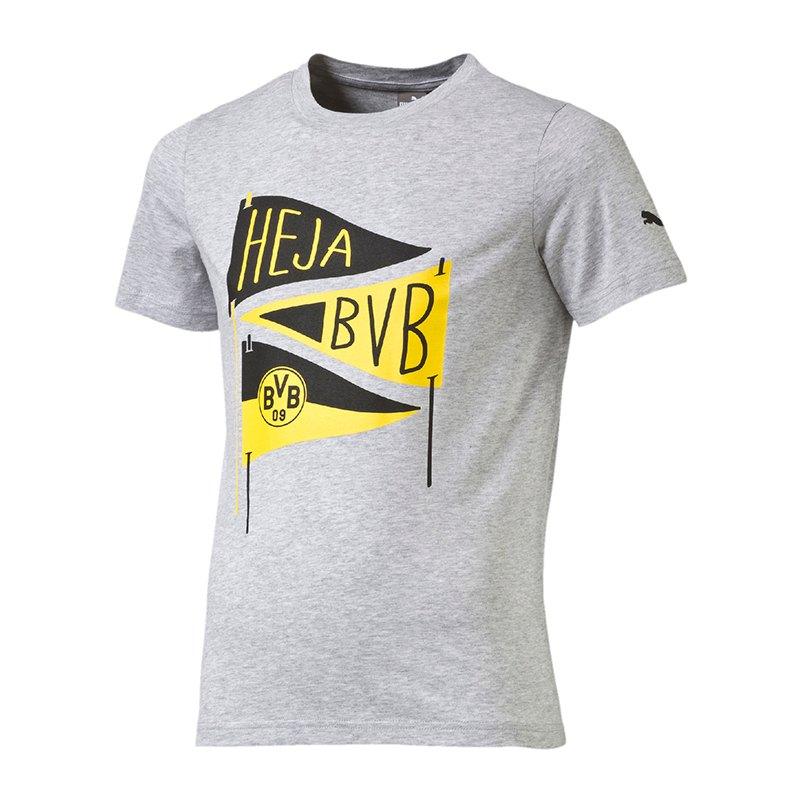 PUMA BVB Dortmund Slogan T-Shirt Kids Grau F04 - grau