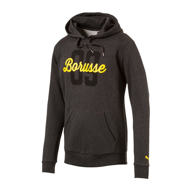 PUMA Borusse Hoody BVB Dortmund Kinder Grau F04 - grau
